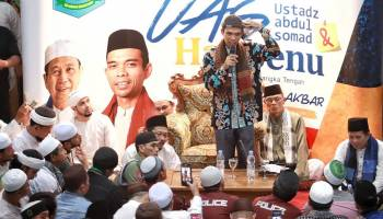 Ustad Abdul Somad Hadiri Tabligh Akbar di Bangka Tengah, Ribuan Warga Membludak