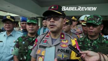 Video Apel Pasukan Gabungan Pengamanan Lebaran di Mapolda Babel
