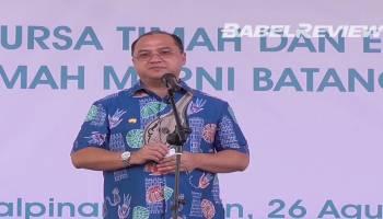 VIDEO Gubernur Erzaldi Resmikan Bursa Timah dan Ekspor Perdana Timah Murni Batangan JFX