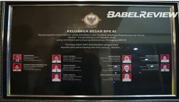 VIDEO Kantor Perwakilan BPK Babel Peringati Setahun Tragedi Jatuhnya Pesawat Lion Air JT 610