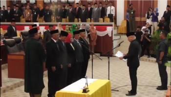 Inilah Video Pelantikan Lima Anggota DPRD Babel PAW Korban Jatuhnya Lion Air JT610