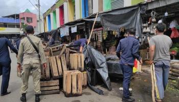 VIDEO Penertiban PKL di Pasar Induk Pangkalpinang