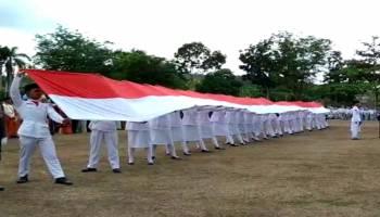Video Prosesi Pengibaran Bendera Merah Putih Pemerintah Kabupaten Bangka