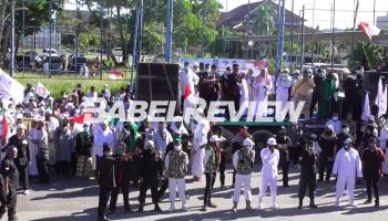 VIDEO Ratusan Massa Front Melayu Babel Bersatu Unjuk Rasa Tolak RUU HIP