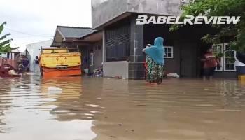 VIDEO Sejumlah Wilayah Pangkalpinang Terendam Banjir