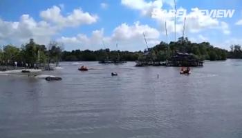 VIDEO Tim SAR Gabungan Temukan Jenazah Penambang Tenggelam di Beltim