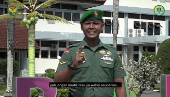 Viral, Korem 045/Gaya Imbau Cegah Covid-19 Menggunakan Bahasa Bangka