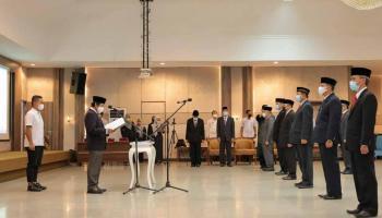Wagub Abdul Fatah Lantik dan Kukuhkan 27 Pimpinan Tinggi Pratama