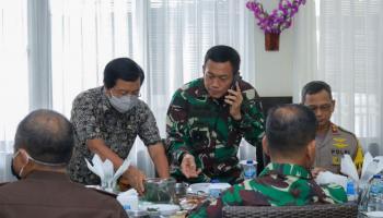 Wagub Abdul Fatah Sambut Kedatangan Pangdam II Sriwijaya