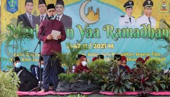 Wakil Bupati Bangka Buka Pawai Panglong di Desa Karya Makmur