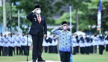 Wakil Bupati Bangka Pimpin Upacara Hari Guru Nasional