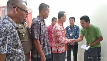 Wakil Bupati Bangka Sambangi Rumah Korban Robohnya Tower Telekomunikasi
