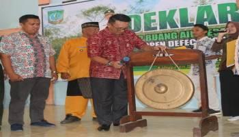 Wakil Bupati Beltim Deklarasikan Setop BAB Sembarangan