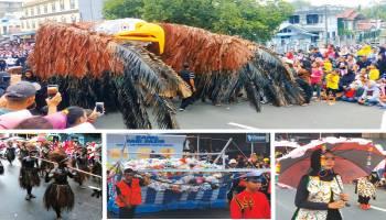 Warga Belitung Ramai - ramai Turun Ke jalan Karnaval Kemerdekaan Usung Tema Cinta Lingkungan