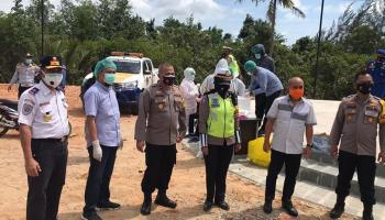 Warga Kabupaten Bangka yang Masuk Wilayah Pangkalpinang Dilakukan Test Swab Antigen