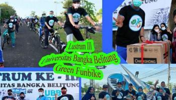 Warga Kampus Semarakan UBB Green Funbike di Lustrum ke-3