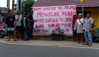 Warga Pangkalarang Menolak Rusunawa Dijadikan Lokasi Karantina Covid-19