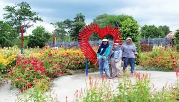 Wisata Baru Taman Bunga di Gantung