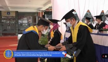 Wisuda XXIII UBB, Pesan Menyentuh Sang Rektor: Simpan Cerita, Beri Warna