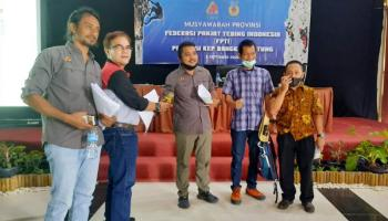 Zulkarnain Alijuddin Terpilih Sebagai Ketua FPTI Babel Periode 2020-2024