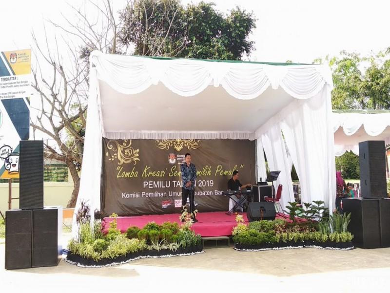 Sukseskan Pemilu 2019, KPU Bangka Gelar Lomba Murel dan Berbalas Pantun