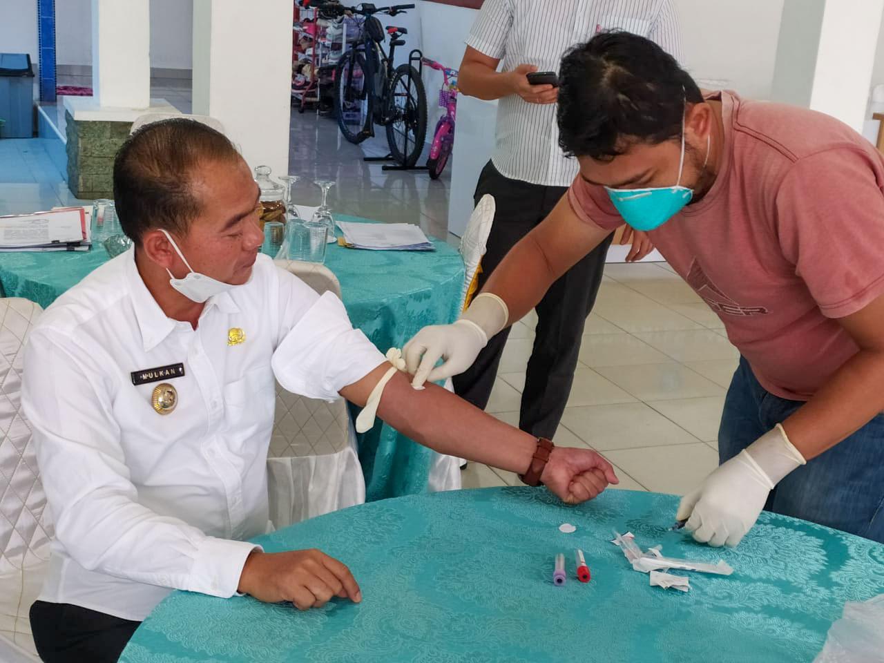 Sukseskan Vaksinasi Covid-19, Pemkab Bangka Lakukan Screening Pengambilan Darah