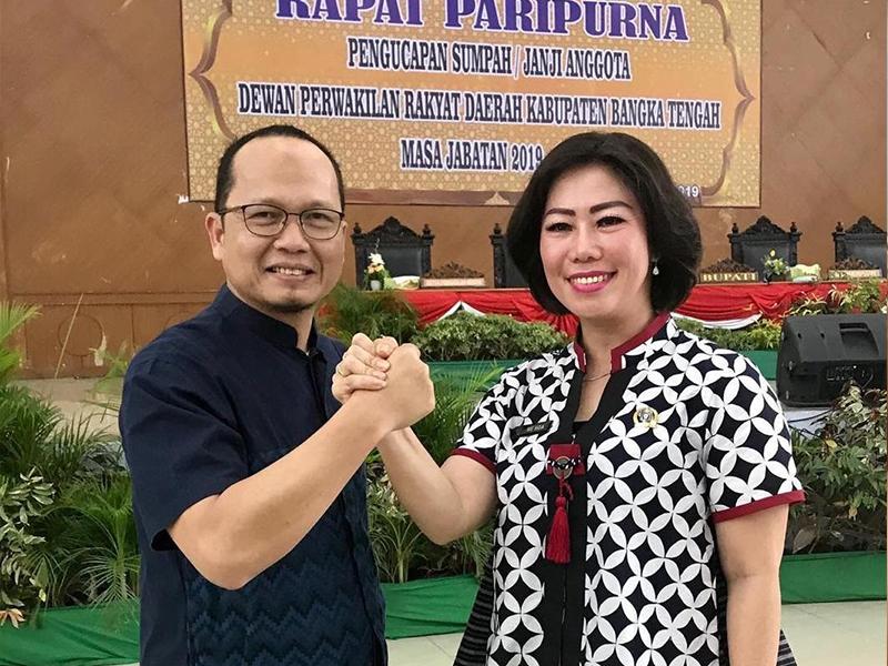 Tampuk Pimpinan DPRD Bateng Berganti