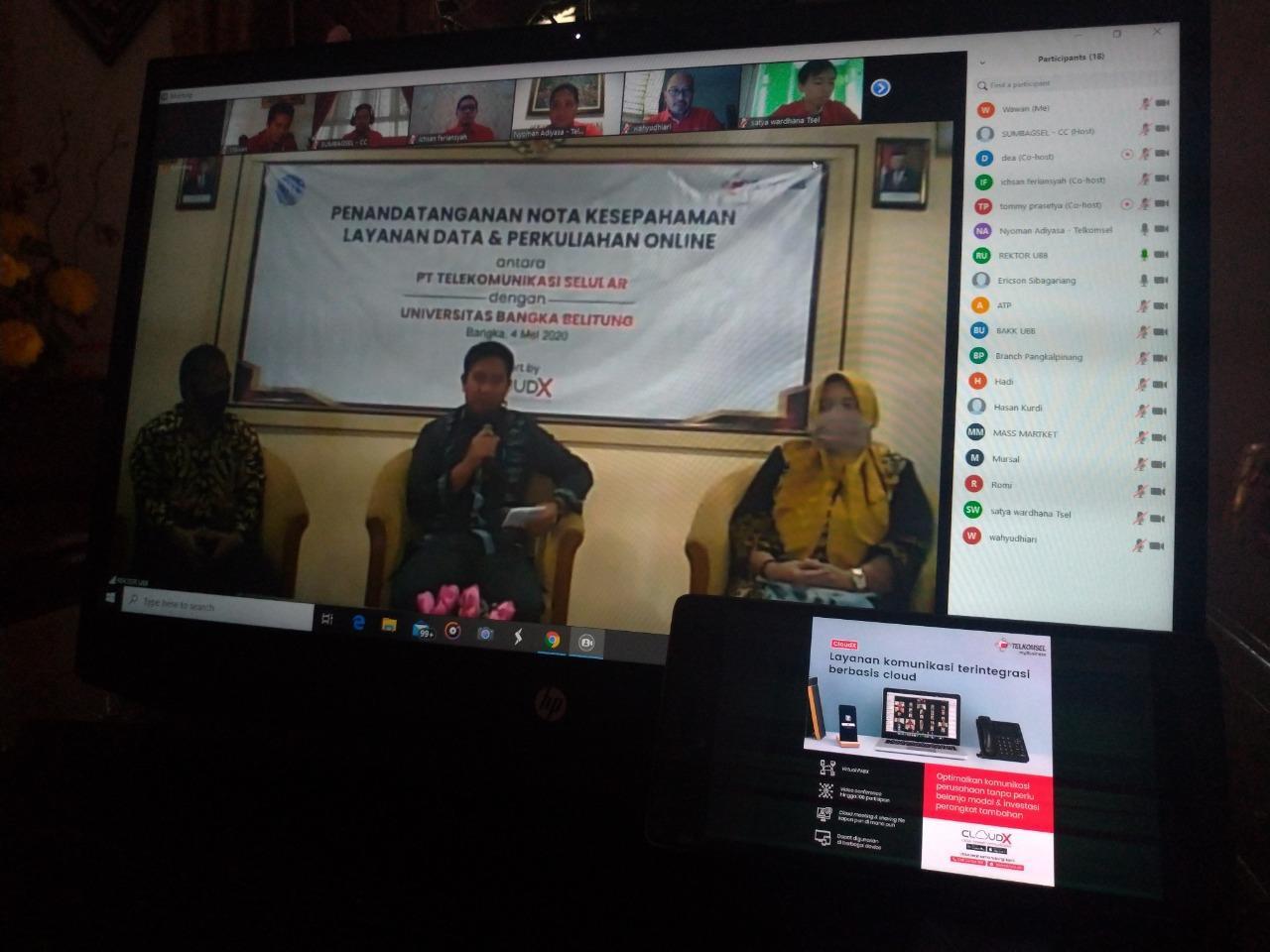 Telkomsel Bantu UBB Wujudkan Kampus Digital, Rektor Pengen Sama-Sama Untung