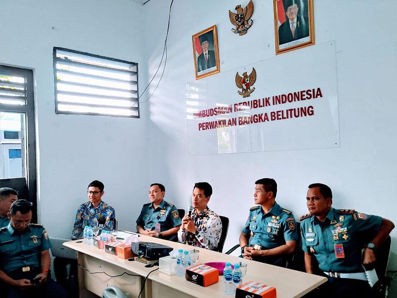 Tim Asesor Reformasi Birokrasi Markas Besar TNI Angkatan Laut Kunjungi Kantor Ombudsman Babel