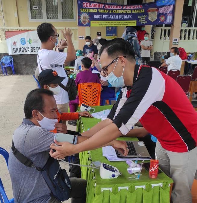 Vaksinasi Kelompok Pelayanan Publik di Bangka Capai 80.63 Persen
