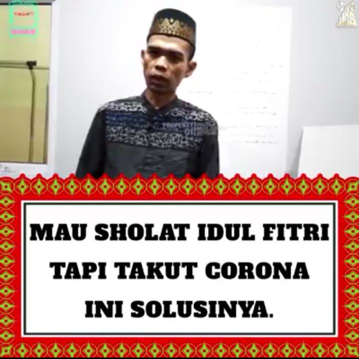(VIDEO) Mau Sholat Idul Fitri Tapi Takut Corona, Ini Solusi Dari Ustadz Abdul Somad dan Ustadz Firanda Andirja Abidin