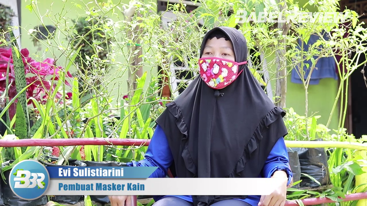 VIDEO Pemdes Bukit Layang Berdayakan Ibu Rumah Tangga Produksi Masker Kain