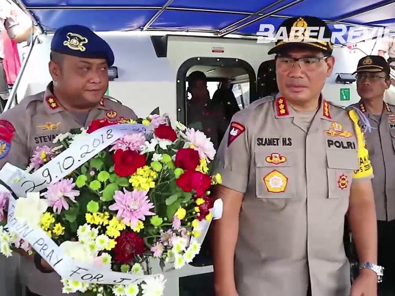 VIDEO Polda Babel Gelar Upacara Tabur Bunga di Perairan Lepas Mengenang Korban Lion Air JT-610
