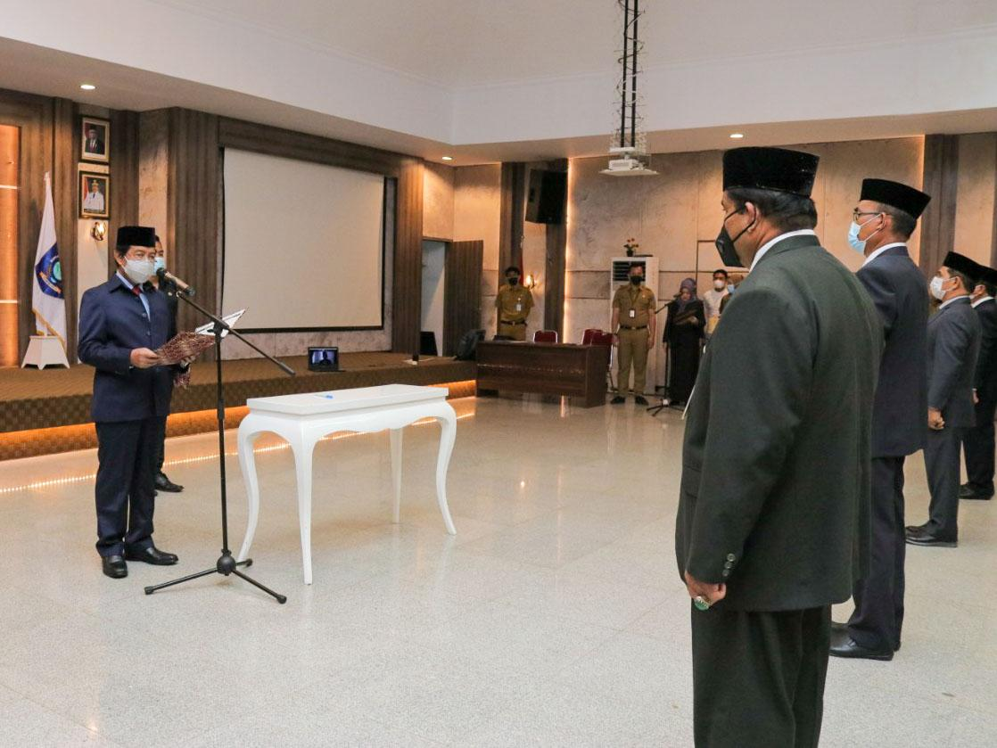 Wagub Abdul Fatah Lantik 47 Pejabat Daerah