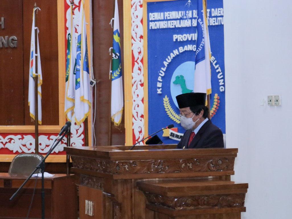 Wagub Hadiri Paripurna Pelantikan PAW Anggota DPRD Babel