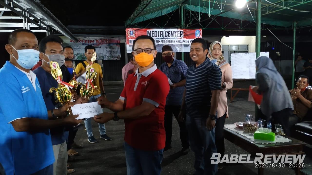 Wakil Bupati Bangka Resmi Menutup Turnamen Gaple Yang Digelar MC dan Setwan Bangka