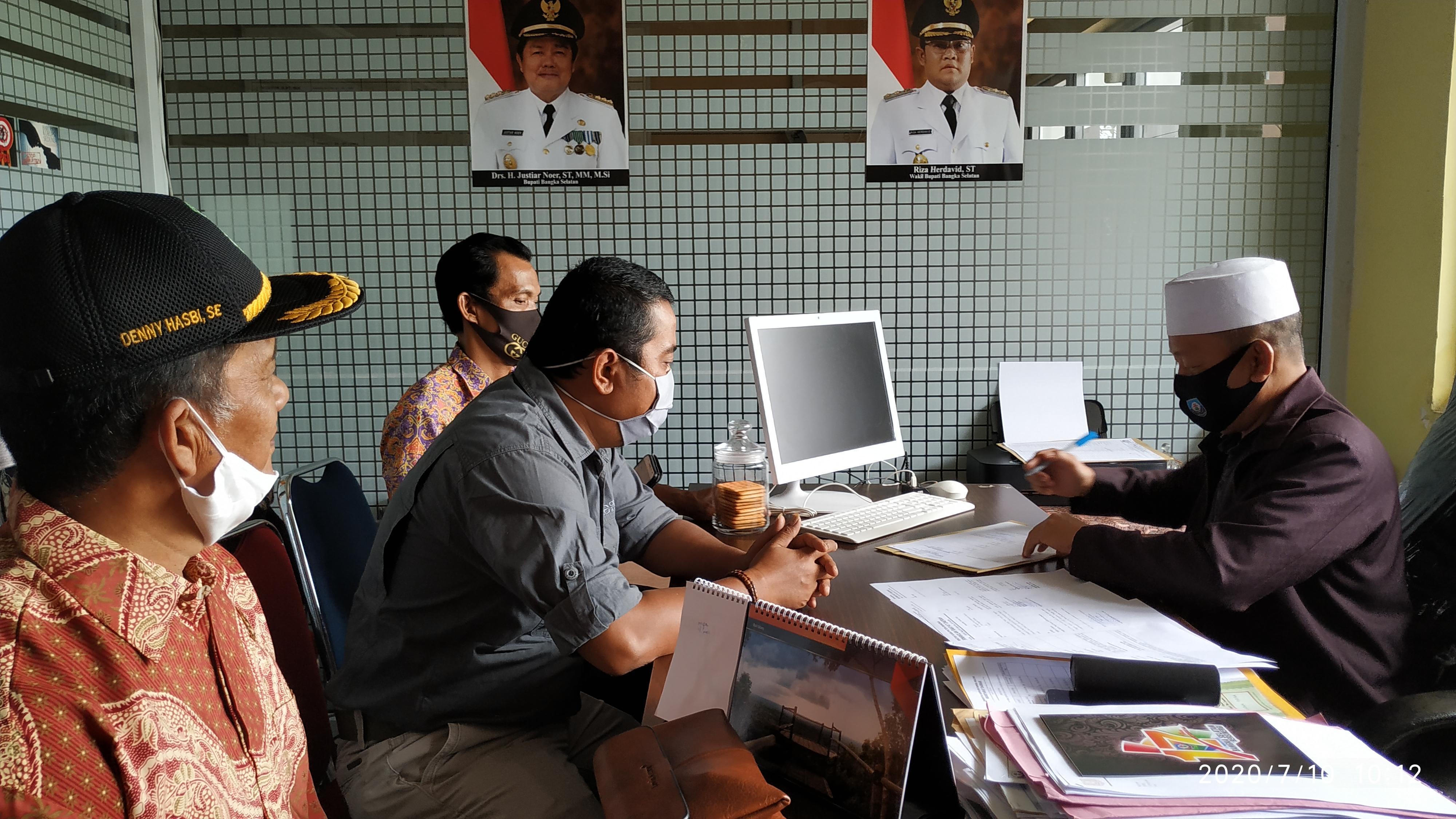 Wakil Ketua I DPRD Bangka Bersama Anggota Komisi I Lakukan Kunjungan Kerja Ke Pemkab Bangka Selatan