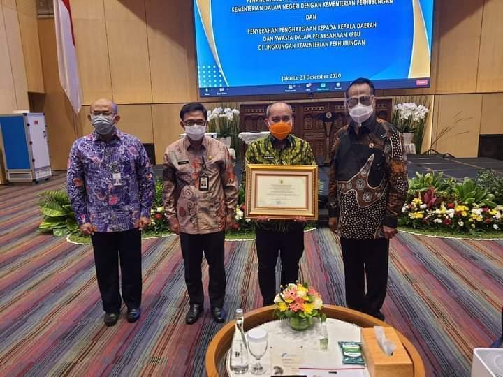 Walikota Pangkalpinang Dapat Penghargaan dari Kemenhub RI