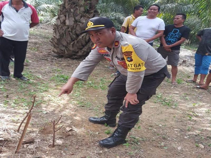 Warga Dusun Air Anyai Dihebohkan Penemuan Granat Aktif