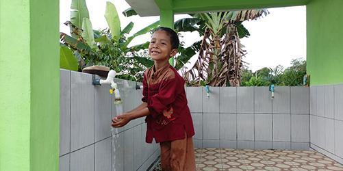 Warga Dusun Melingai Kini Tak Kesulitan Air Bersih Lagi
