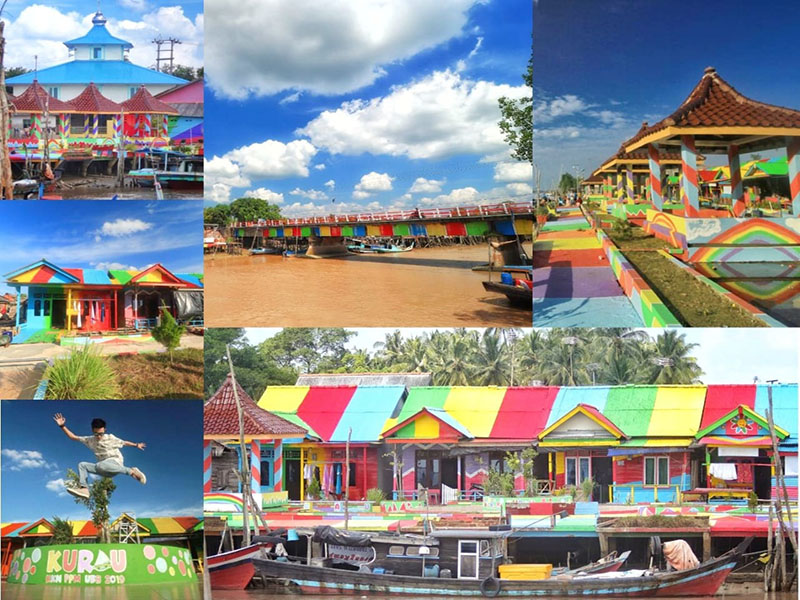 Warna Warni Kampung Pelangi Nelayan Desa Kurau